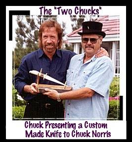 Chuck Norris with Chuck Stapel